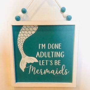 🆕 Mermaid Nautical Summer Hanging Sign Picture